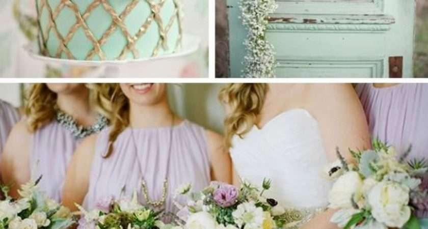 Wedding Theme Summer Color Scheme Lavender Mint