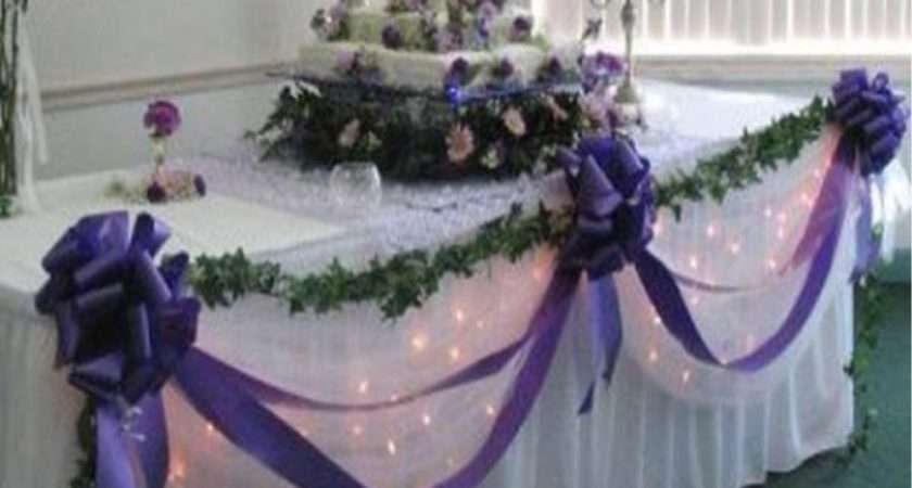 Wedding Top Table Decoration Kit Bows Swags All