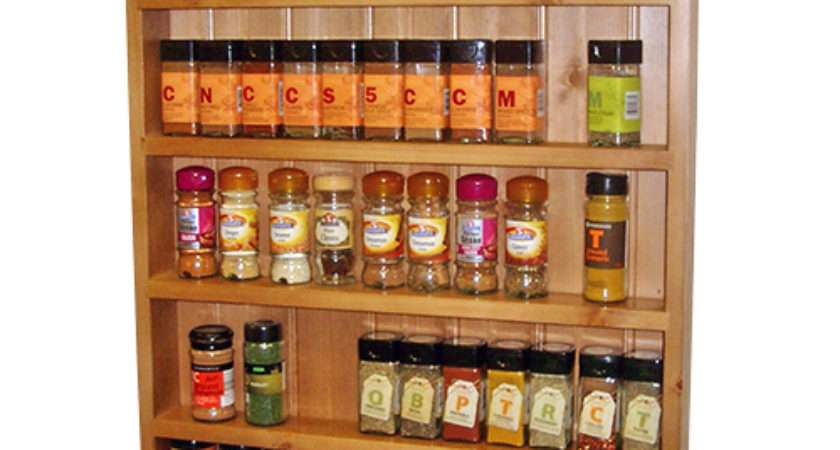 Welcome Wood Spice Racks Made Measure