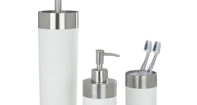 Wenko Creta Bathroom Accessories Set White Victorian