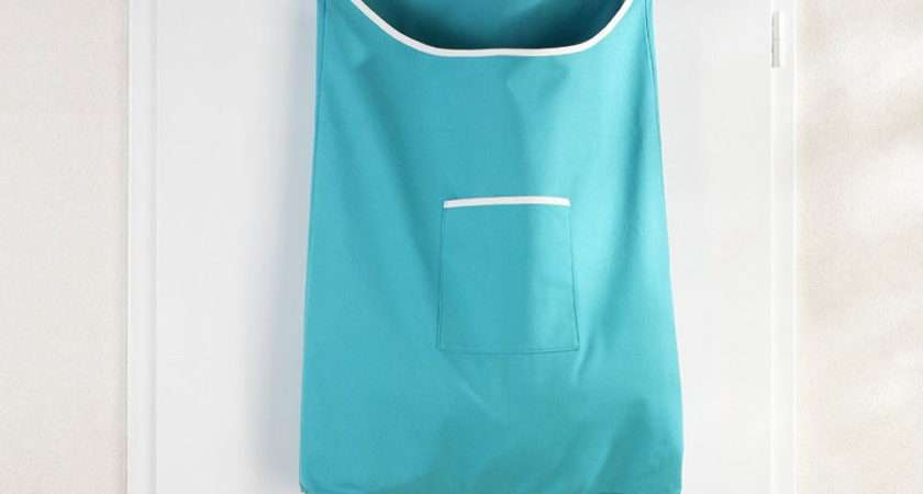 Wenko Space Saving Laundry Bag Turquoise Victorian