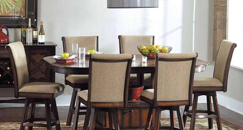 Westwood Storage Extension Dining Table Swivel Stools