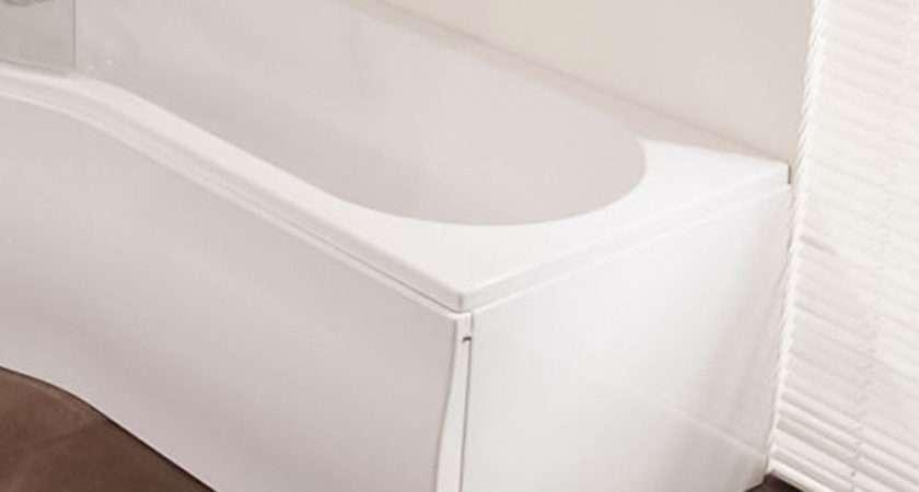 White Acrylic End Panel Shaped Shower Bath Tub Ebay
