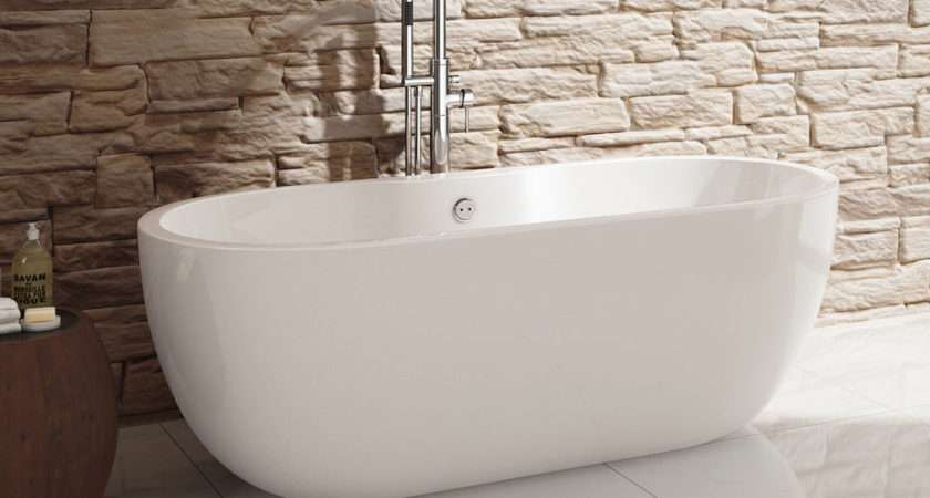 White Bathroom Acrylic Modern Freestanding Roll Top Bath