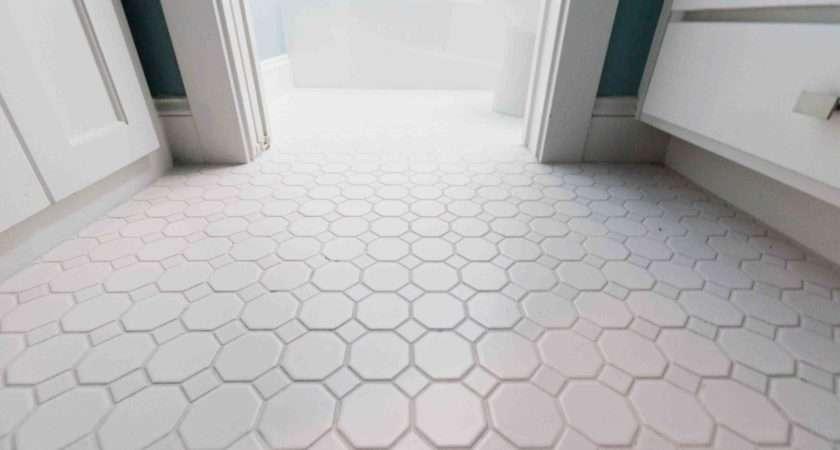 White Bathroom Floor Tiles Popular Octagonal Tile Shape Flooring