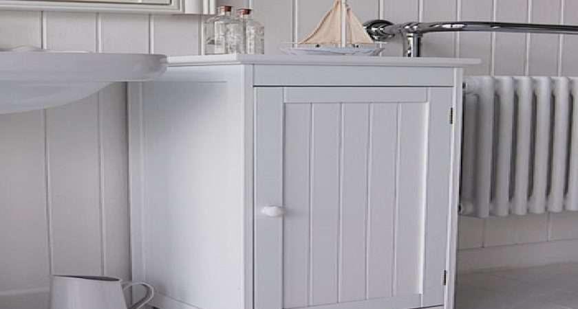 White Bathroom Furniture Storage Freestanding