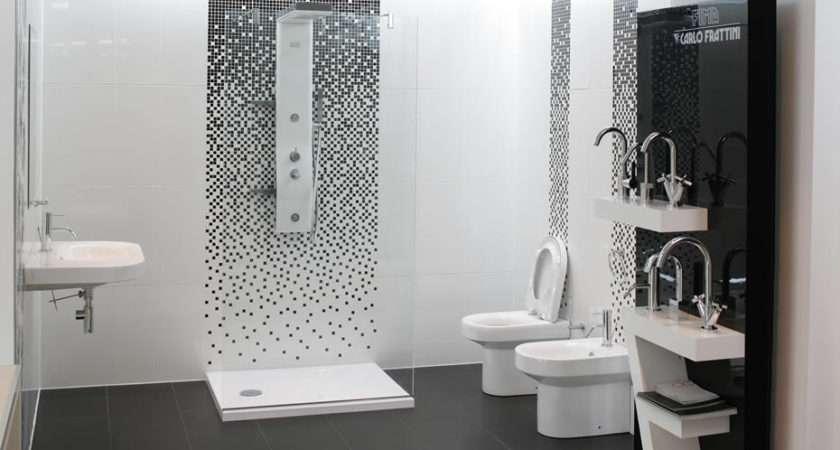 White Bathroom Shower Tile Designs