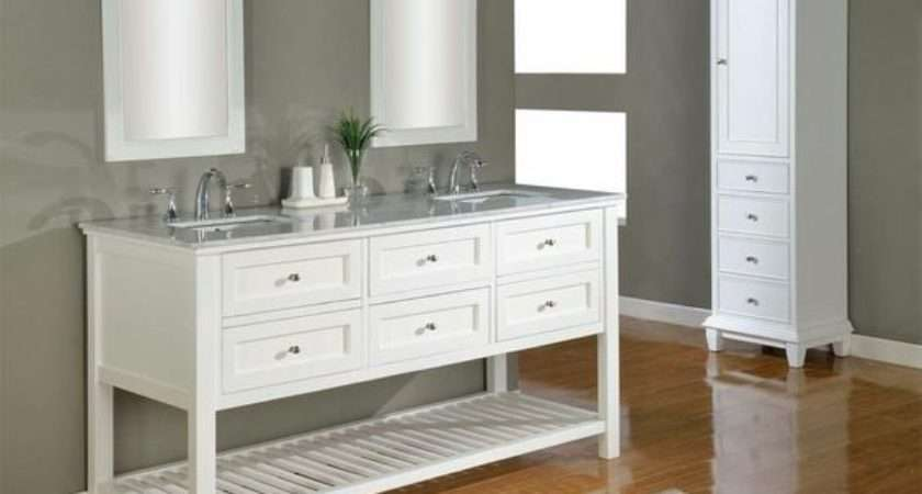 White Bathroom Vanity Designs Ideas