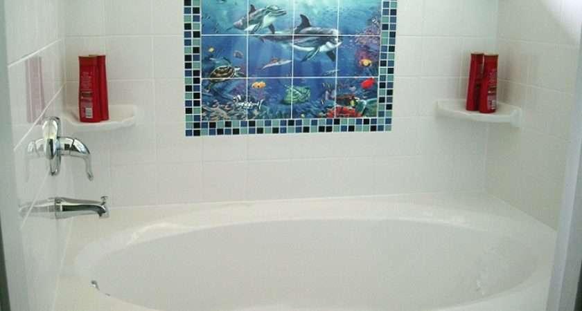 White Bathroom Wall Tile Shower Pink