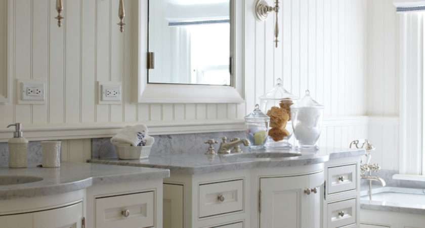 White Beadboard Bathroom Vanity Ideas