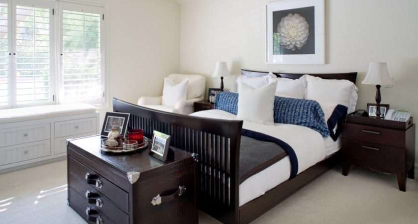 White Bedrooms Dark Furniture Pixshark
