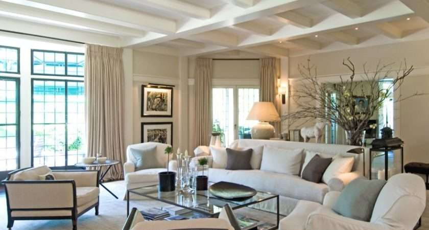 White Beige Color Scheme Seems Appropriate Beach House