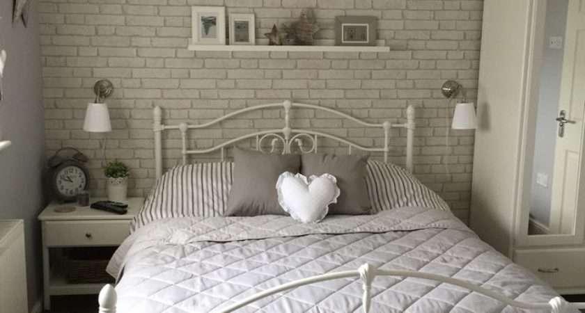 White Brick Bedroom Pleasing