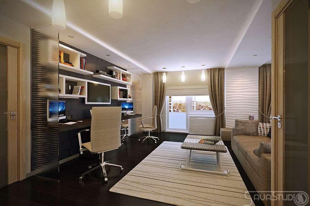 White Brown Home Office Design Olpos