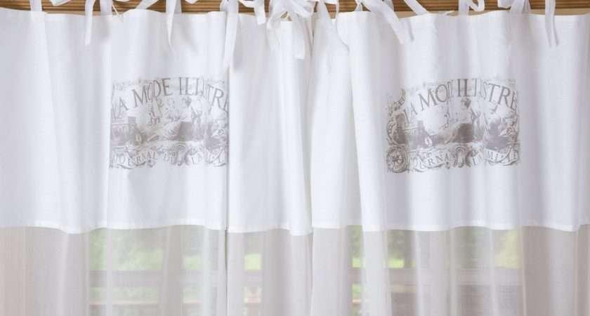 White Cotton Tie Top Curtains Curtain Menzilperde