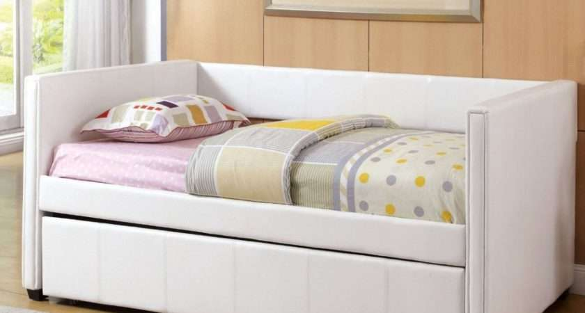 White Daybed Trundle Dainty Bedding Also Our