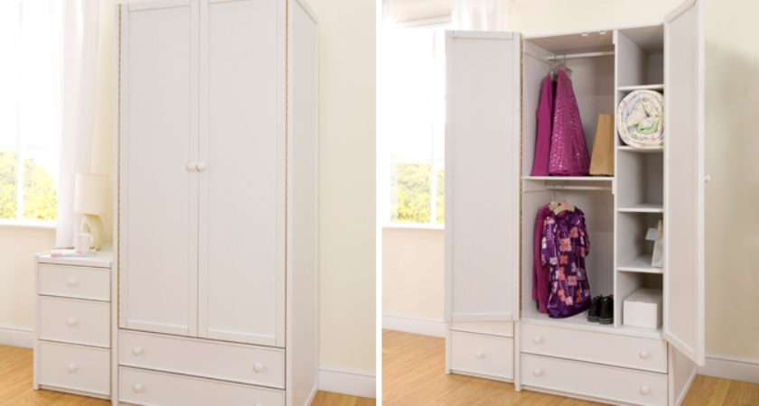 White Double Combi Wardrobe Childrens Bed Centres