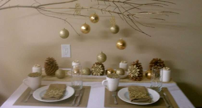 White Gold Table Setting