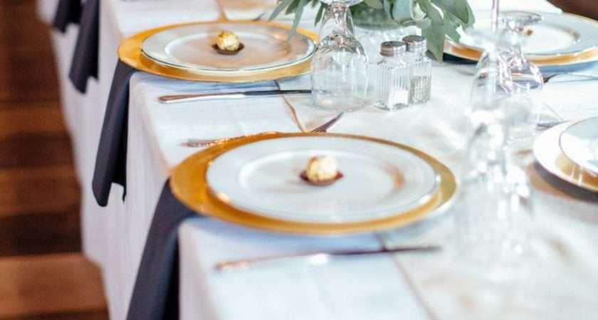 White Gold Table Settings Home Design