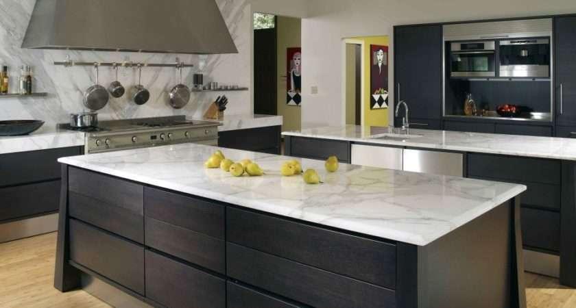 White Granite Fitting Kitchen Worktops Black Painted