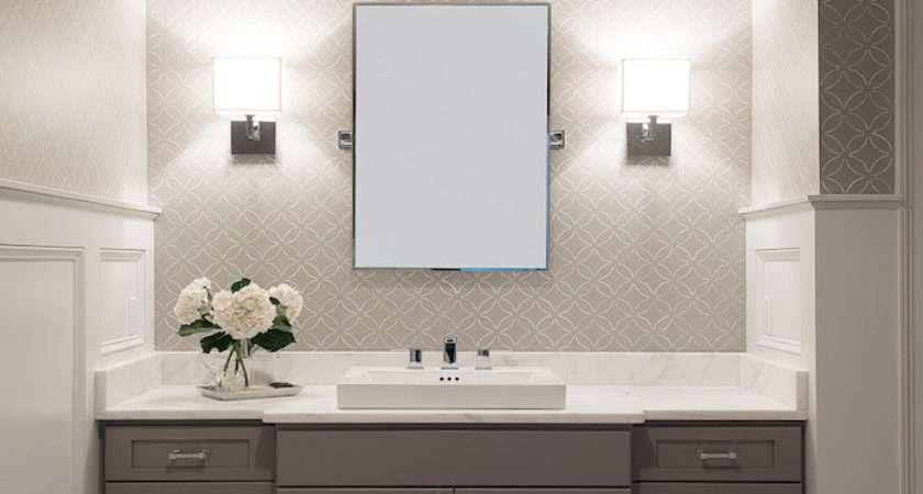 White Grey Bathroom Transitional Cory