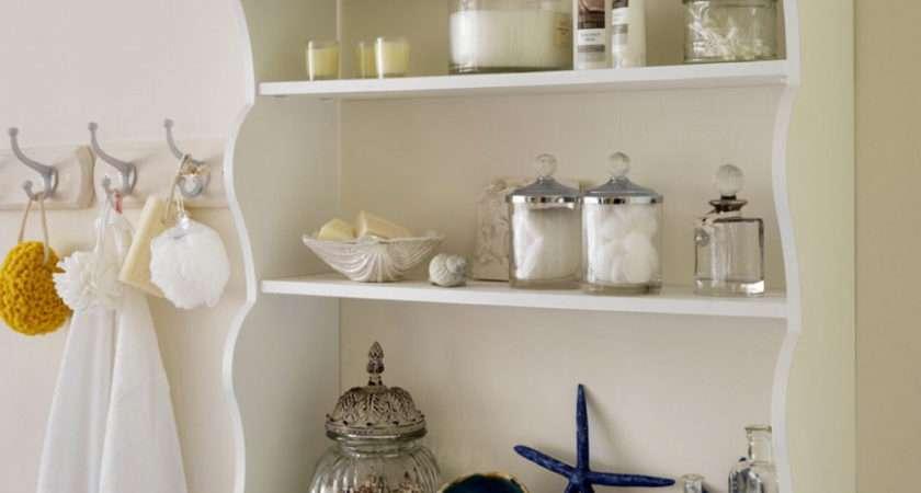 White Hanging Wall Shelves Bathroom Decofurnish