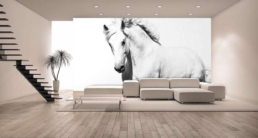 White Horse Bedroom Wall Mural Shop