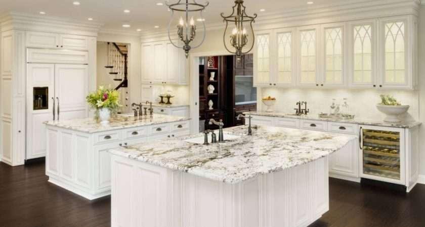 White Ice Granite Cabinets Backsplash Ideas