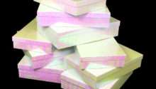 White Iridescent Nested Gift Boxes Rectangle Apparel