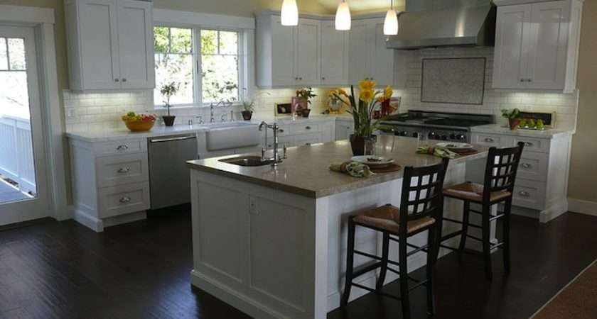 White Kitchen Cabinets Dark Floors Kitchendecorate