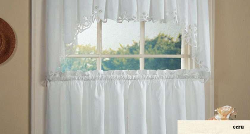 White Lace Kitchen Curtains Ideas