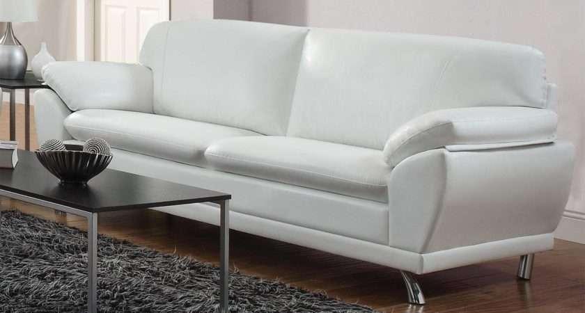 White Leather Sofa Decorating Ideas