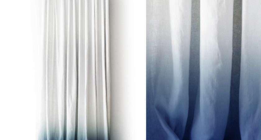 White Linen Curtain Ombr Blue Pinch Pleat Lovelyhomeidea