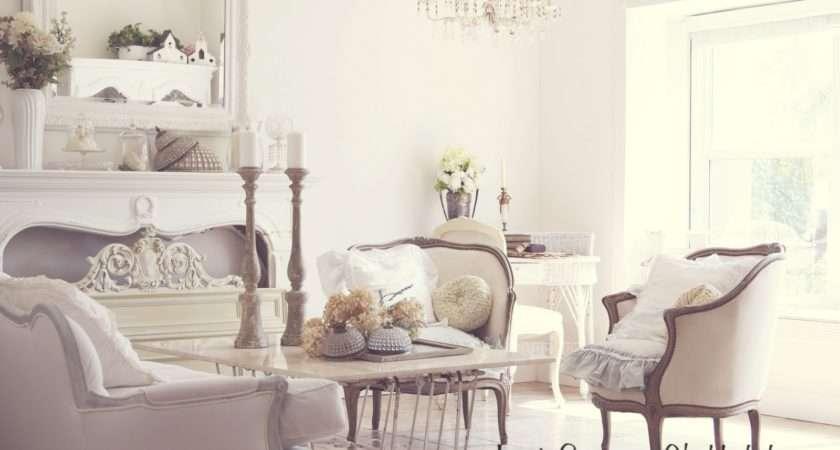 White Living Room French Style Shabbyfufu