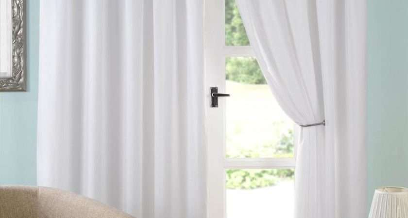 White Modern Voile Curtains House Plan