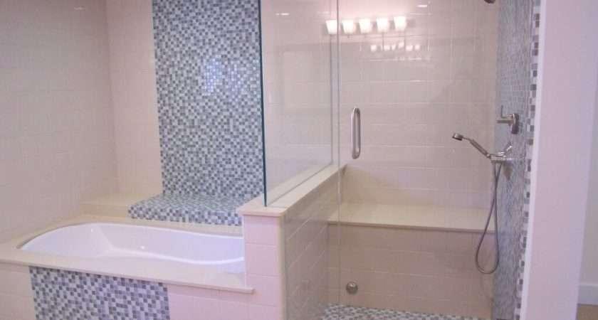 White Mosaic Blue Bathroom Wall Tiles Ideas Installing