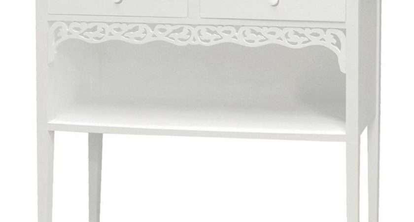 White Painted Shabby Chic Belgravia Drawer Small Hall