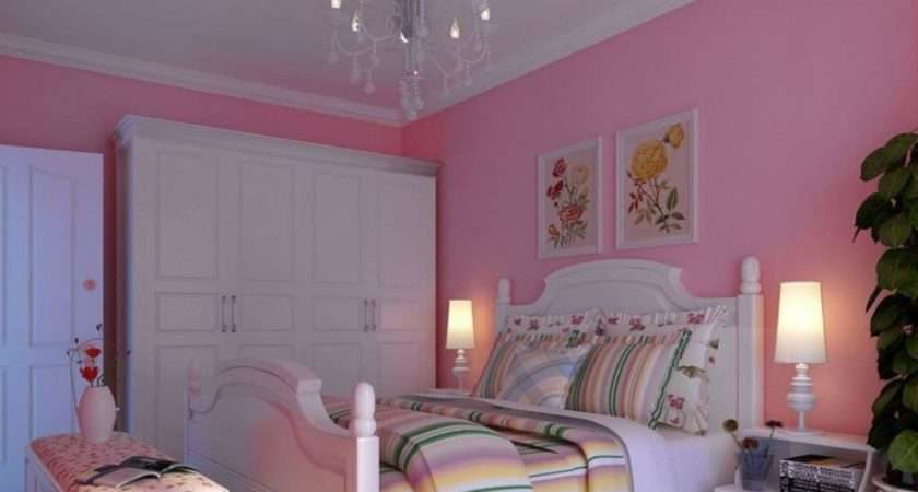 White Pink Bedroom