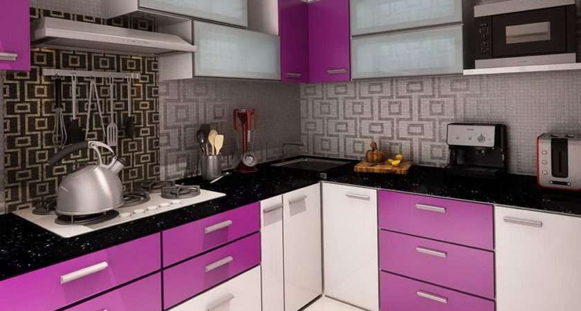 White Purple Kitchen Cabinets Home Design Ideas