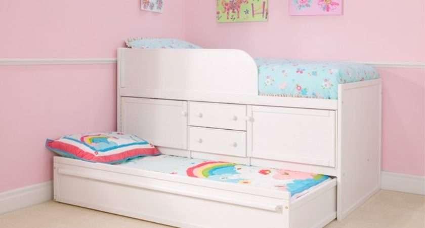 White Sleepover Bed Storage Cbc