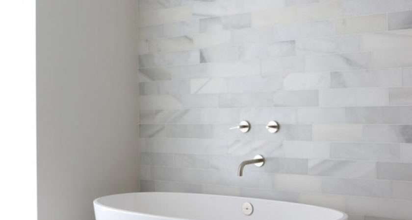 White Stone Bathroom Tiles Ideas