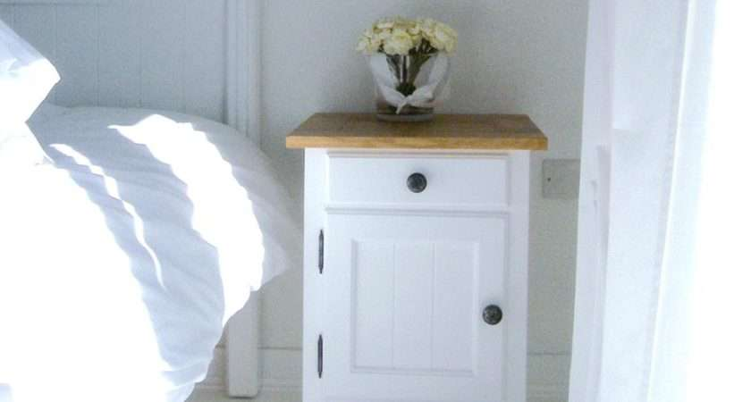 White Wood Bedside Tables Small Table