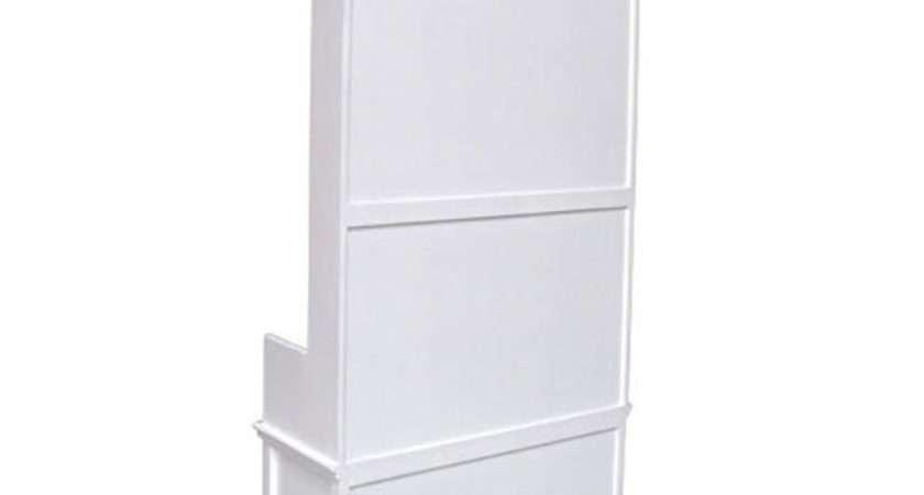 White Wooden Hallway Shoe Storage Candle
