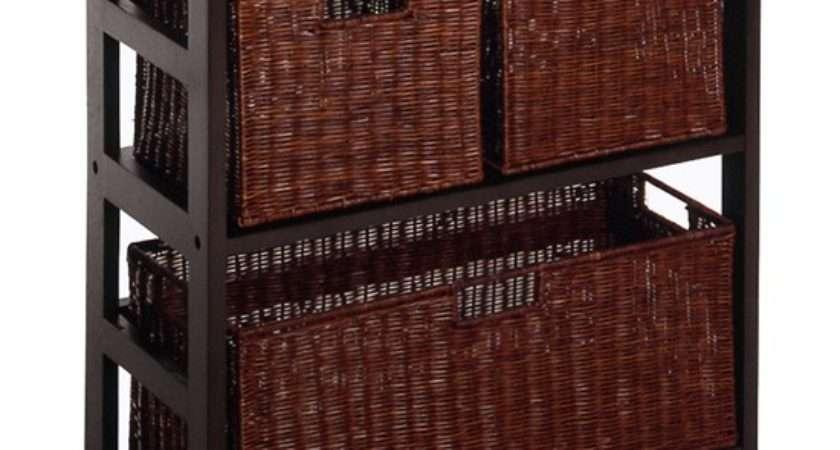Wicker Basket Storage Unit Shipping