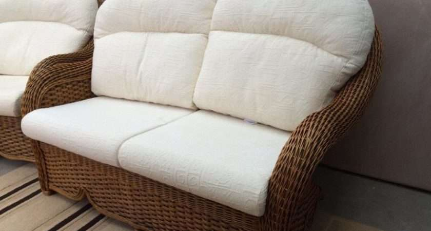 Wicker Conservatory Seater Settee Chairs United