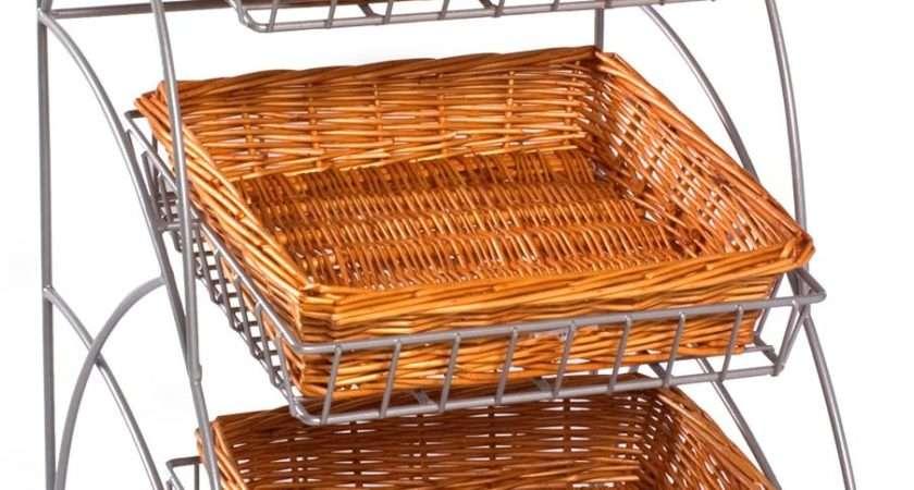 Wicker Displays Shelves Countertop Baskets