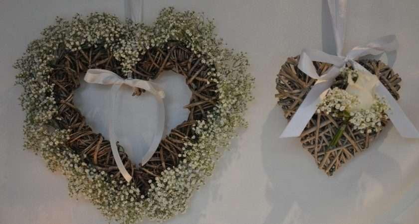 Wicker Hearts Gypsophila