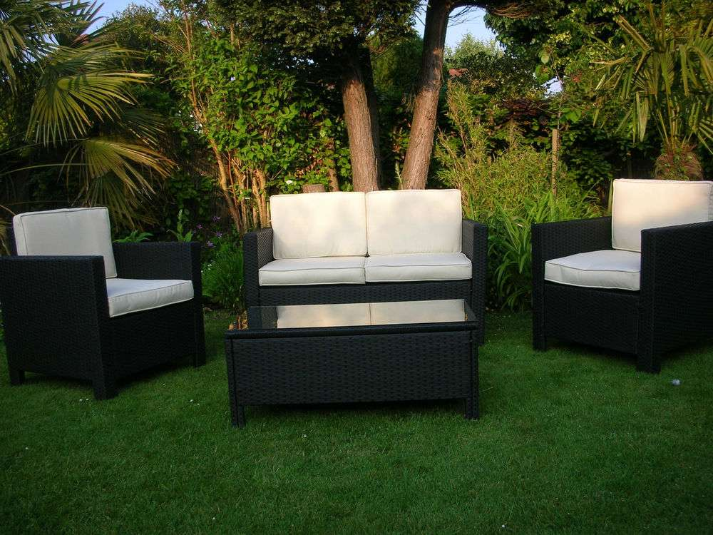 Wicker Outdoor Conservatory Furniture Table Chairs Set Ebay