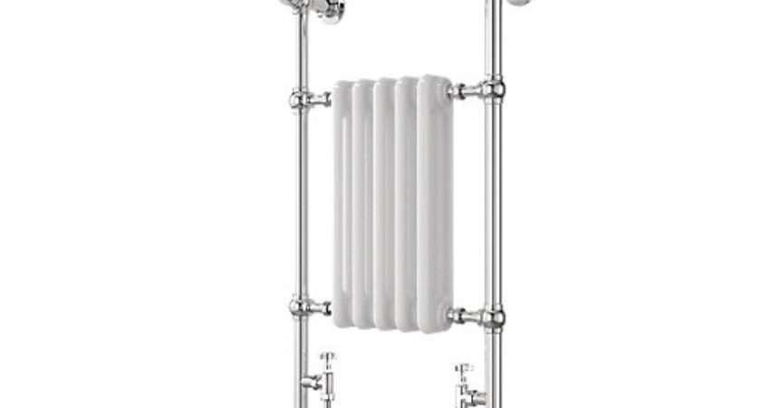 Wickes Etiquette Designer Towel Radiator Chrome White