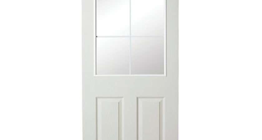 Wickes Light Internal Moulded Door White Glazed Primed